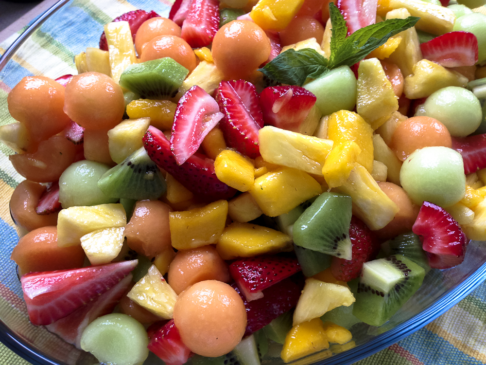 Summer Preview: Ginger-Mint Fruit Salad