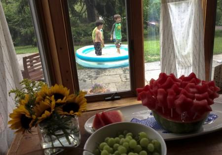 130630 frozen watermelon pops with kids