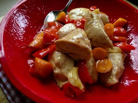 130811 quick lemon roasted chicken vegetables