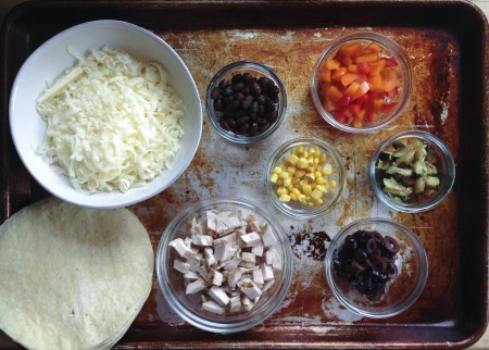 make your own quesadillas