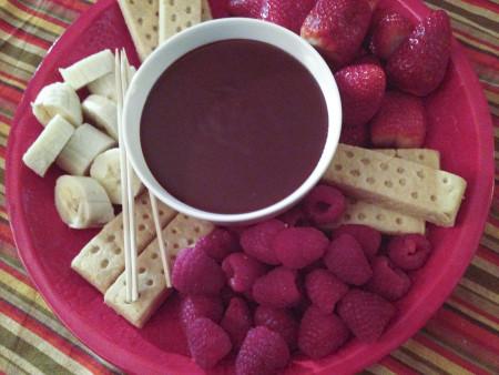 131231 quick chocolate fondue