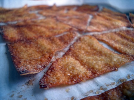 Easy Sweet Treat: Cinnamon Toast Wonton Crisps